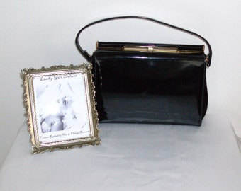 Vintage Patent Leather 40s-50s Purse