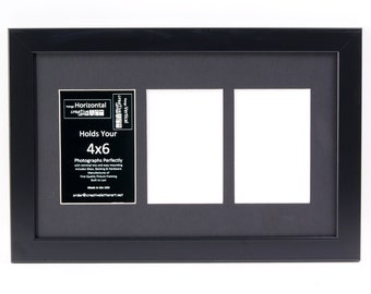 Multi Opening Black Picture Frames with 3 4 5 6 7 8 9 10 11 12 13 14 Opening Collage Mat to hold 4x6 Photographs