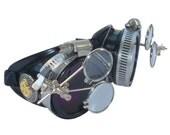 Victorian Steampunk goggles aviator victorian welding biker eye cup--bbb lila2