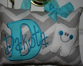 Girls Tooth Fairy Pillow Personalized Boutique Custom Made Chevron