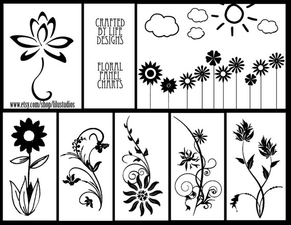 Floral Panel Charts