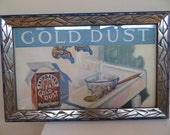 Vintage Print Art Deco Frame FAIRBANKS Gold Dust 1926 Advertisement H Hymer ARTIST