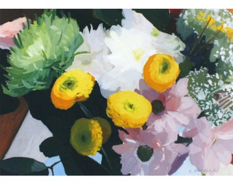 "5x7"" flower print - ""Bouquet 3""  - still life"