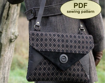New: Sewing pattern to make the Blakeney Clutch Bag - PDF pattern INSTANT DOWNLOAD