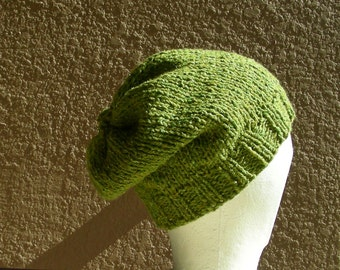 Slouch Hat, Tam, Beanie, Beret, Stocking Cap Green. A stocking cap that's a slouch hat!