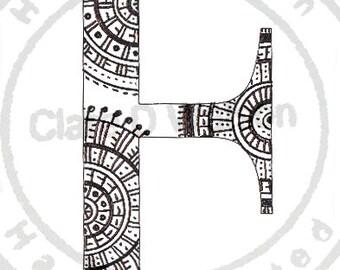 Alphabet Art Print ( F - J )