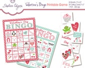 Valentine's BINGO Printable Game, Instant Download