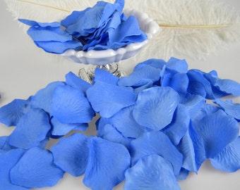 Cornflower Blue Rose Petals, Artificial Flower Petals Cornflower Blue Wedding Decoration, Flower Petals - 200 Petals