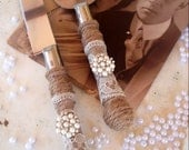 Country Chic Wedding Cake Server And Knife Set
