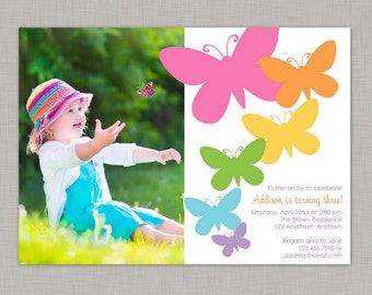 Butterfly Invitation, Butterfly Birthday Invitation, Butterfly Party, Printable