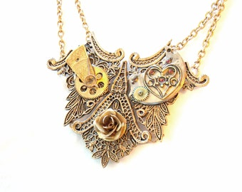 """Victorian Necklace """"A Golden Rose"""""""