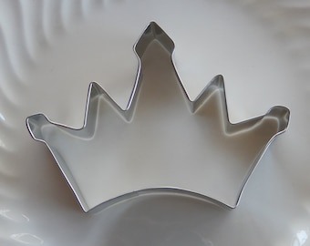 "Princess Crown Cookie Cutter - 4 1/2"" metal cutter made in USA - For Cookies - Sandwiches - Fudge - Rice Krispy Treats - Tiara - Playdough"