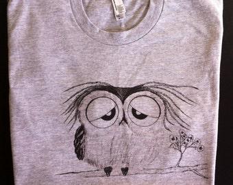 Owl - american apparel tshirt
