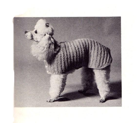 Cat Coat Knitting Pattern : Items similar to walking coat for dog or cat vintage pdf