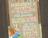 Peter Rabbit Invitation, Peter Rabbit Birthday Invitation, Bunny Invitation, Beatrix Potter Invitation, PRINTABLE, Peter Cottontail