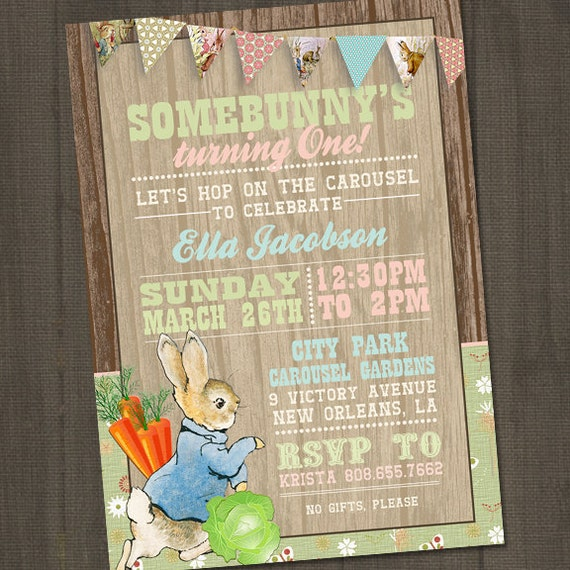 Peter Rabbit Birthday Invitations is an amazing ideas you had to choose for invitation design