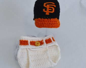 San Francisco Giants BaseBall Hat and Diaper Cover