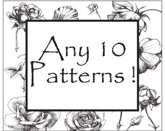 CHOOSE ANY 10 Crochet PATTERNS - Special offer - Discounted