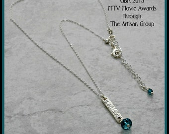 Gifted to the Celebrities at GBK's Gift Lounge at the MTV Movie Awards (April 2015) Patterned Pendant with Swarovski Crystal