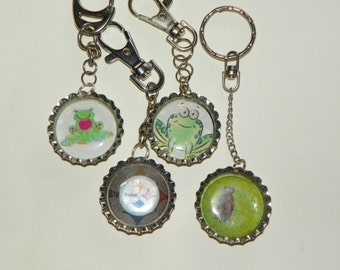 Keyrings Groundhog Day keyring You choose the picture animals, designs, cartoon characters, sea creatures, dogs, cats, flowers, people, cats