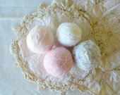 Romantic Cottage Chic Fabric Rag Balls by WeeWoollyBurros