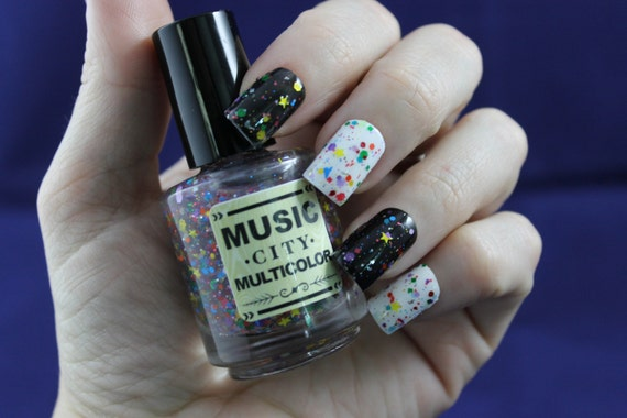 Stars of Music Row- Music City Multicolor nail polish Nashville