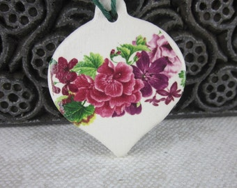 Small Purple Flower Hanging Ornament