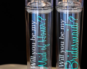 1 Will you be my Bridesmaid tumbler, Personalized bridesmaid proposal. Will you be my Bridesmaid? Asking Bridesmaid Will you be my. BPA Free