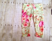 Spring Floral Leggings, Baby Girl, Toddler, Made To Order