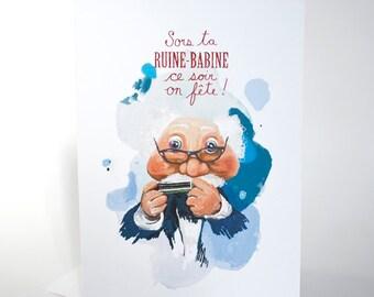 Grand-Papa Bi - Carte de souhaits
