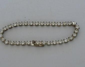 Vintage Silver Rhinestone Bracelet