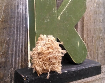 Shabby chic letter K, shelf sitter