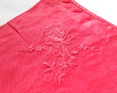 Vintage Red Rose Hand-Dyed Hanky