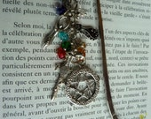 bookmark wiccan pentagram cat Goddess sword book of shadows  library spirituality magical free shipping in Canada USA
