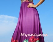 Purple Dress Women Plus Sizes Clothing Long Maxi Dress Bridesmaid Dress Formal Dress