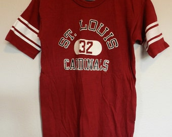 vintage Otis Anderson Cardinals Jersey T Shirt St. Louis NFL Champion brand S/M football tee NOS 70s 80s