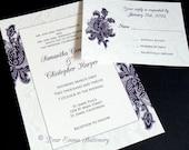 PRINTABLE Paisly Ethnic Wedding Invitation and RSVP- Digital diy Wedding Files - I set text, YOU print