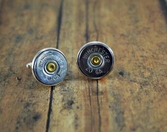 Shotgun Shell CuffLinks ~ Winchester 20 gauge ~ Shotgun Shells ~ Wedding Set