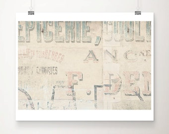 french decor france photograph bayeux photograph french print french art vintage letters photograph pastel home decor
