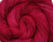 glitter sock yarn HEARTACHE hand dyed sw merino nylon stellina fingering weight 3.5oz 435 yards