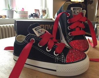 Bling!! Swarovski Crystal Toddler Low Top Converse - Made To Order