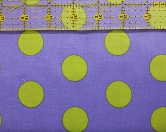 Andover Lavendar and Lime Dot Cotton Fabric