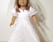 American Girl Doll First Communion Dress or Wedding Dress