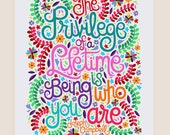 11x14-in Joseph Campbell Quote Illustration Print.