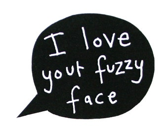 Funny Birthday Card for Him, I Love Your Fuzzy Face Card, Funny I Love You Card, For Hipster Boyfriend, Funny Beard Card, Poosac