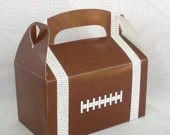 Football Boxes, 6 Ct…. Football Treat Boxes / Football Favor Boxes…Party Favor Boxes Candy Boxes Birthday Sports Party Superbowl
