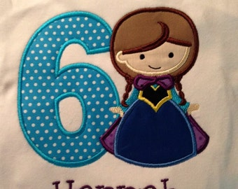 Anna Birthday Custom boutique appliqued monogrammed personalized, boys, girls, T-shirt, one piece w/snaps, valentines,