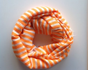 Scarf- Neon Scarf- Orange & White Striped Scarf- Men and women pop orange wool scarves- Ethiopian scarves and wraps- NEON