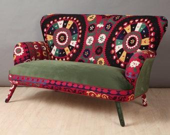 Suzani 2 seater sofa - green love