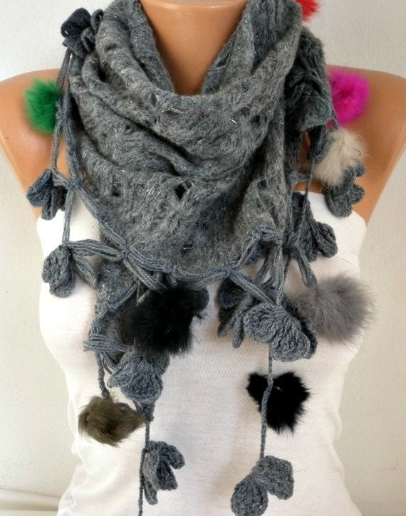 Gray Scarf Shawl Scarf Cowl Scarf Gift Ideas For Her  Women Fashion Accessories best selling item scarf